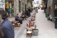Turkish outdoor coffee shop, Istanbul