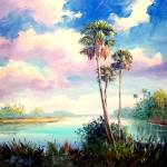 """Sabal Palmetto Trees"" by mazz"