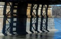 Shadows on Mohawk River Bridge