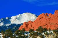 Pikes Peak Mountain, Kissing Camels red rocks in t