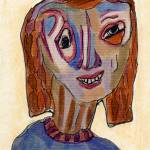 """Colored Lady"" by OutsiderArtist"
