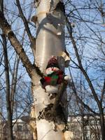 My snowman in a tree 4