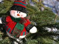 My snowman in a tree 9