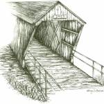 """Imes Covered Bridge"" by funkybrush"