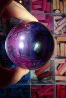 Coloured Chalk through Glass Ball(with flash)