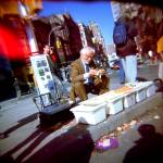 """Joe Ades - Carrot Peeler Saleman"" by movingstillpix"