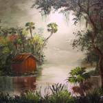 """Cabin along the Misty River"" by mazz"