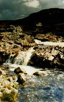 Waterfall in storm Connemara