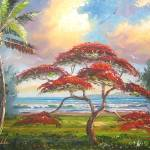 """Royal Poinciana Tree Art"" by mazz"