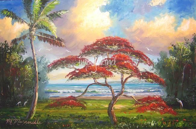 Stunning Quot Flamboyant Tree Quot Artwork For Sale On Fine Art Prints