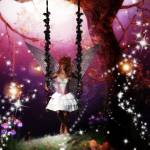 """Fairy on a swing"" by mysticglendesigns"