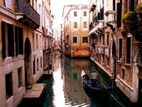 Gondola on Canal: Venice Collection 2005