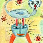 """Water Creatures"" by OutsiderArtist"