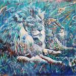 """Lions of Blue Lemuria"" by paullawrencecurtis"