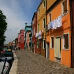 """Houses by the Burano Canal"" by DonnaCorless"