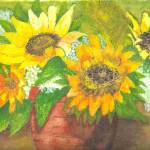 """Sunflowers in Vase"" by ClaraM"