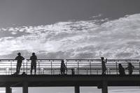 People on a Bridge