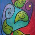 """""""Whimsical Vine with Swirls"""" by funkybrush"""