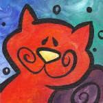 """Whimsy Kitty Kitty"" by funkybrush"