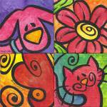 """""""Whimsical Cat and Dog Collage"""" by funkybrush"""
