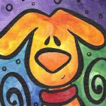 """""""Whimsical Puppy Dog with a Smile"""" by funkybrush"""