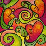 """""""Tangled Hearts - Whimsical Hearts and Vines"""" by funkybrush"""