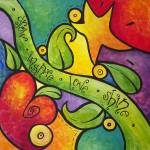 """""""Whimsical Heart, Star, and Vine"""" by funkybrush"""