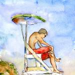 """Lifeguard Chair"" by schulmanart"