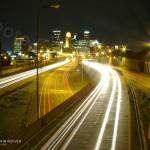 """I-35W & Minneapolis at Night, 16 Oct 2008"" by photographybyROEVER"