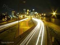 I-35W & Minneapolis at Night, 16 Oct 2008