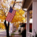 """the stars and stripes in fall..."" by phototes"