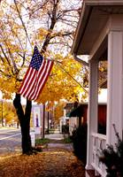the stars and stripes in fall...