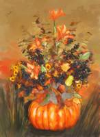 Halloween Bouquet with Pumpkin