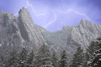 Storm over the Flatirons  - Boulder