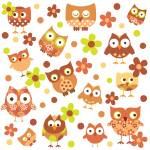 """Funky Owls"" by cocoastudio"