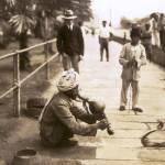 """Snake Charmer, Singapour c1910"" by worldwidearchive"