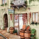 """Sicilian Old Street Grocery 250dpi.tif"" by StudioD"