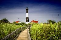 Path to the Fire Island Lighthouse