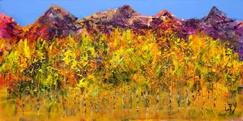 Aspens on the Mountain