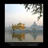 Golden Temple with Quote