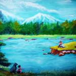 """Fishing Day"" by tonyflake2"