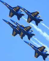 Blue Angel Jets Leaving a White Trail