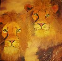 lions at sun down