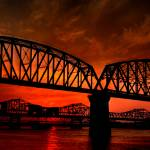 """Sunset on the Ohio River"" by DanielLight"