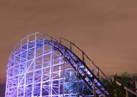 Roller Coaster at Night