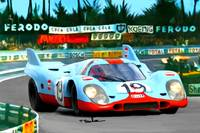 Porsche 917, wide view at Le Mans