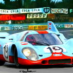 """1970 Porsche 917 K, narrow view"" by ArtbySachse"