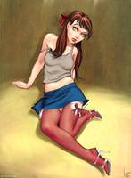 Cartoon girl