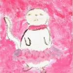 """""""Ballerina Cat by Marie L."""" by marieLsBalletArt"""