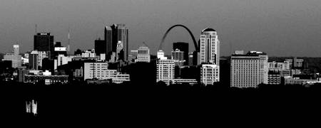 St. Louis Skyline BW 1